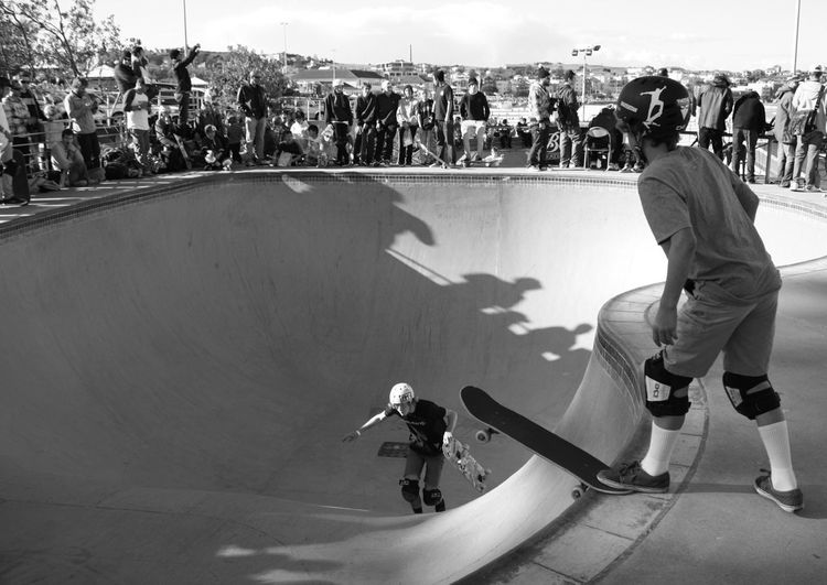 Bondi Skatepark Skateboarders