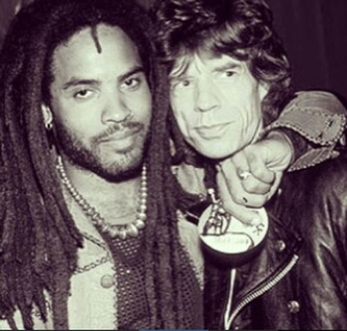 Rockstars Lennykravitz Mickjagger stolen from kenny kravitz instagram :) rock n roll !