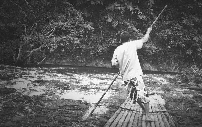 Bamboo Rafting, Loksado - South of Borneo