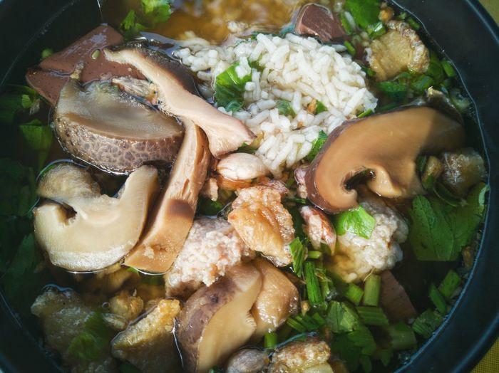 Porridge Rice Soup ข้าวต้มสุขภาพ Mushroom Grounded Port Food And Drink Seafood No People Indoors  Close-up