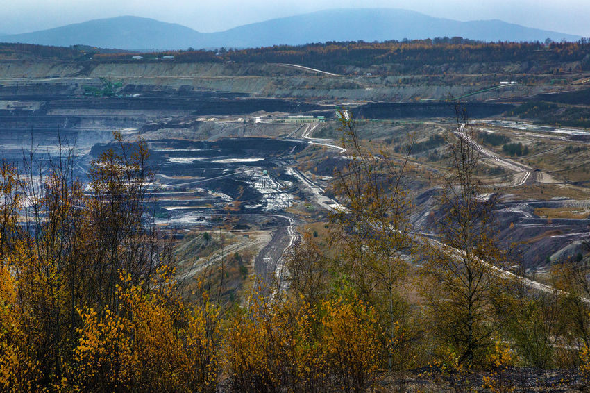 Brown Coal Mine Turów Beauty In Nature Bogatynia Day Landscape Mine Mountain Nature No People Outdoors Scenics Sky Tranquil Scene Tranquility Travel Destinations