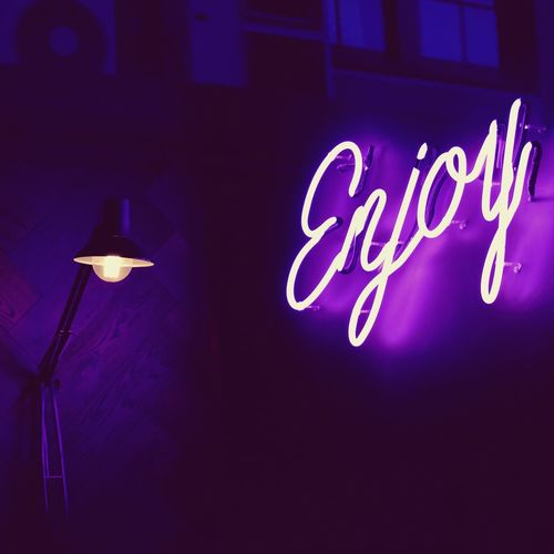 Hello peeps Enjoy! Picoftheday EyeEm Gallery EyeEm Photography EyeEm Selects Neonlights Neon Illuminated Lighting Equipment Night No People Text Glowing Electricity  Communication Low Angle View Western Script Indoors  Light - Natural Phenomenon Light Architecture Electric Light Wall - Building Feature Neon Close-up Built Structure Domestic Room