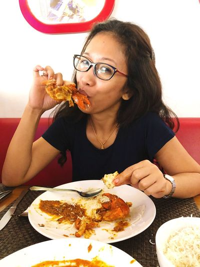 Enjoying yummy