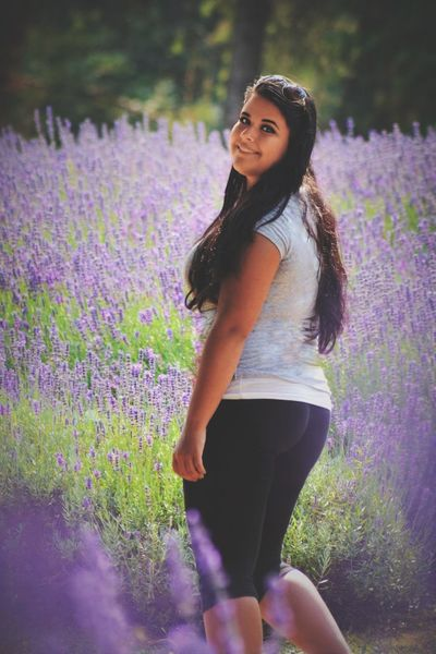 EyeEm Selects Young Adult One Person Purple Young Women Flower Adult Beauty People Nature Field Springtime Plant Summer Only Women Child One Woman Only Beautiful Woman Standing Beauty In Nature Beautiful People Lavender Field