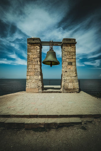 Chersonesus bell Bell Chersonesus Beach Sand Sky Horizon Over Water Wave Calm Sea Coast Seascape Groyne Ocean Lighthouse Lookout Tower Coastline Rocky Coastline Surf Shore Rushing Ancient Archaeology Dramatic Sky Ancient Civilization Old Ruin Ringing Bell Tower - Tower Bell Tower Civilization Ancient History