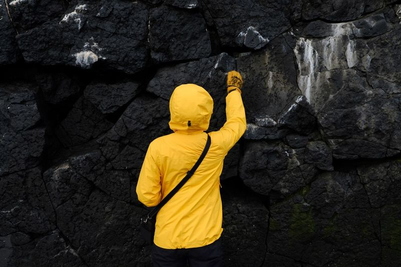 Paint The Town Yellow Yellow Rock - Object One Person Outdoors Day People Adult Iceland Hvítserkur Perspectives On Nature