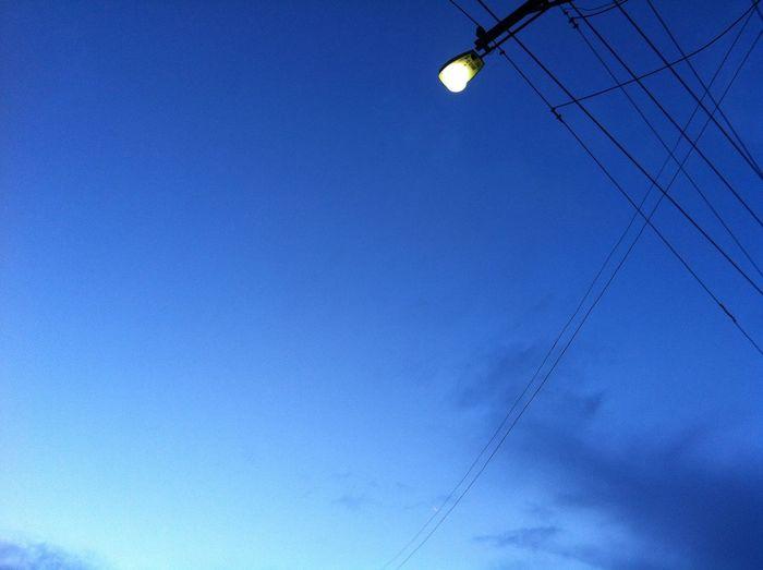 Street light on the sky