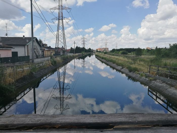 Reflection Cloud - Sky Sky WaterDay Unconfortablecycling Funny Moments Differentmorning Flood Lake Outdoors