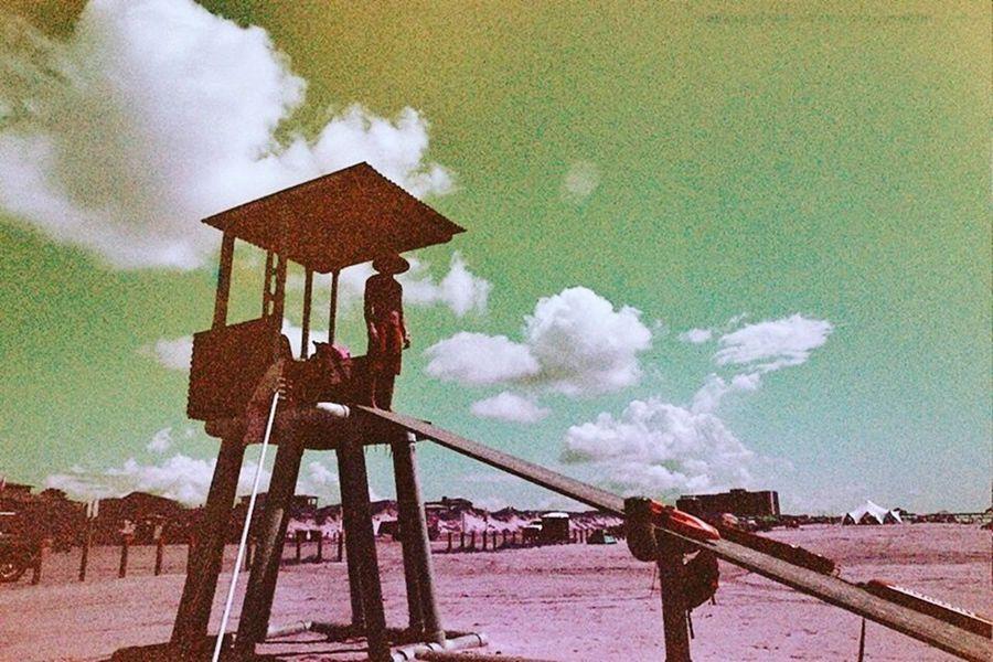 Baywatch in Mustang Island, Texas Filmphotography Filmisnotdead Lomochrome Purple Canont70 Beach Texas