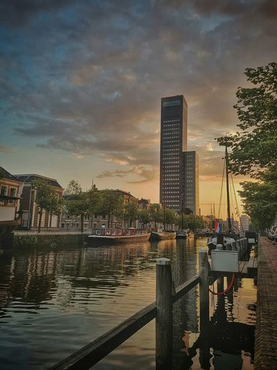 Leeuwarden Sunset Achmeatoren Nature Urbanphotography Holland Netherlands Canal Clouds First Eyeem Photo Adventure Club Galaxys7 Galaxys7picture Hello World Warm Colors Hidden Gems