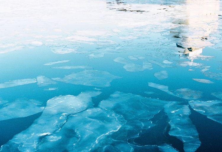 Beauty In Nature Nature Blue Scenics Cold Temperature Water Tranquil Scene Outdoors Tranquility Frozen No People Idyllic Ice Day Winter Polar Climate Glacier Week On Eyeem EyeEmNewHere
