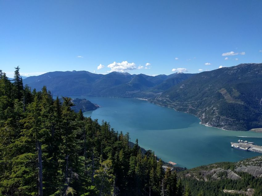 Blue British Columbia Canada Mountain Mountain Range Mountains Nature Outdoors Pacific Sea To Sky Highway Squamish Tree Vancouver Water