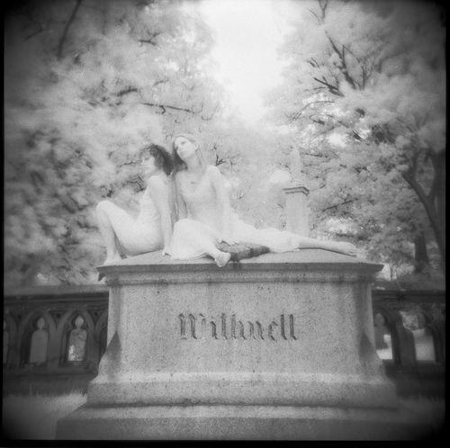 Monochrome Graveyard Beauty Classic Horror Cemeteryscape