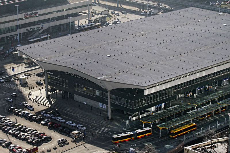 Aerial View Architecture Building Exterior Built Structure Car Central Station Central Station Warsawa City Cityscape High Angle View Station Station Train