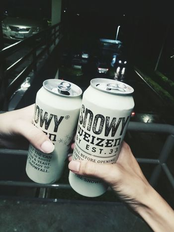 #beertheday #weizen #snowy #beer Frothy Drink Drinking Glass Beer - Alcohol Hand First Eyeem Photo