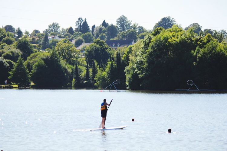 Green Paddle Paddleboarding France Beautiful Nature Lake Sport Open Edit Holiday Sunny Day Water Landscape People And Places Snap a Stranger TCPM Sommergefühle Breathing Space Second Acts