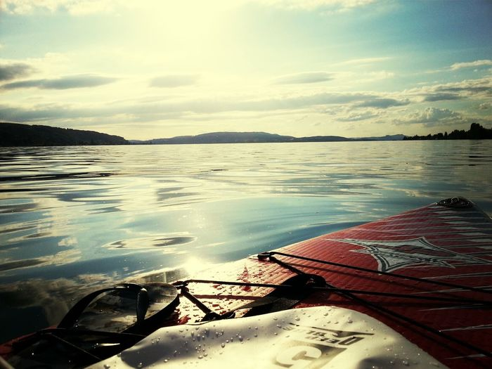 endlich wieder mal Gnadensee Bodensee Standup Paddleboarding