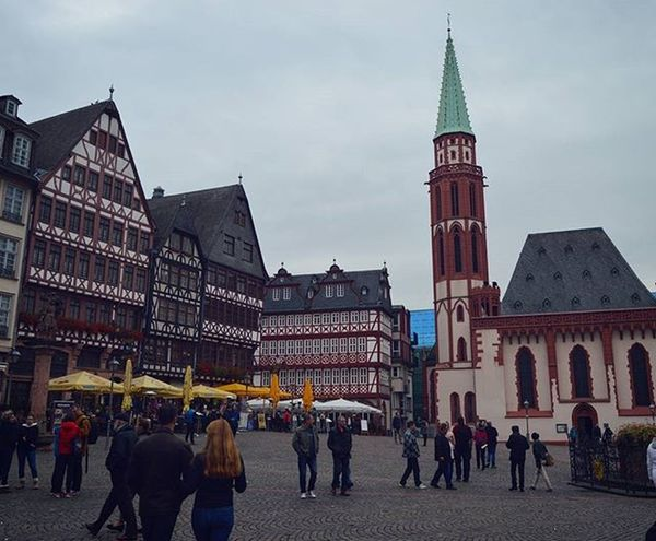 Römerplatz. Frankfurt-am-Main. Römer Frankfurt Frankfurtammain Main Hessen Latergram Germany Deutschland Europe Travel_2_germany