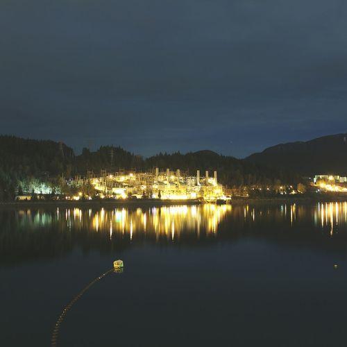 Burrard Inlet Burrard Thermal Plant BurrardInlet Port Moody Long Exposure Lightseeker Night Photography Light British Columbia Reflection