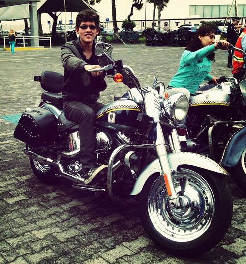 Check This Out That's Me Enjoying Life Police motorcycle :D