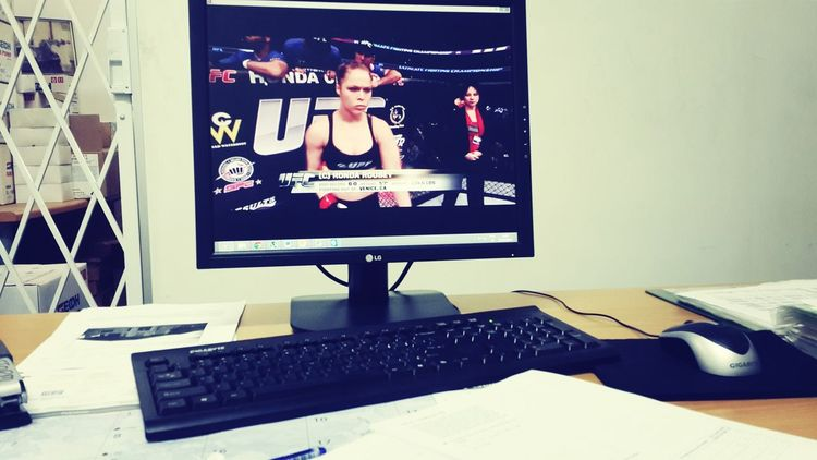 what i really do at work UFC RondaRousey