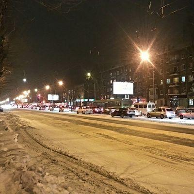 2014-01, г. Новосибирск . пятница  , вечер . пробки , проспектдзержинского