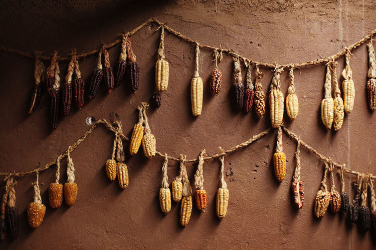 Peru Hanging No People Wall - Building Feature Art And Craft Architecture Indoors  Day Decoration Craft Pattern Built Structure Jewelry Low Angle View Textile Necklace Nature Creativity Clothing Close-up