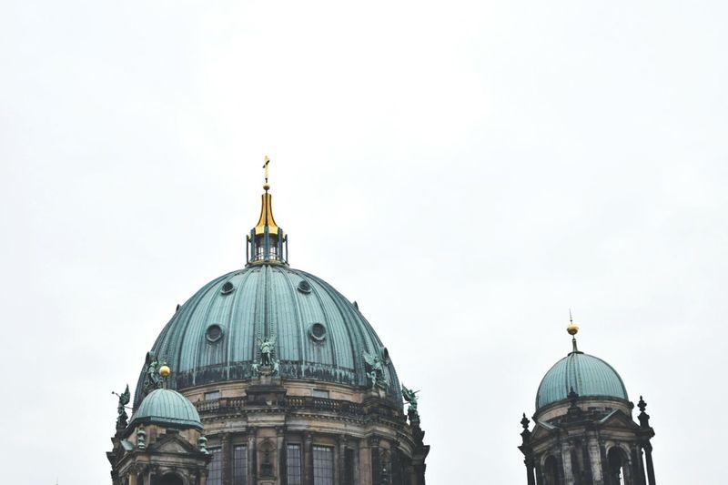Showcase April Seeing the sights in Berlin city. Berlin Seeing The Sights Berlin Dome  Church Dome Bronze Dome Sightseeing Berlin Roofs Berlin Rooftop Dome Detail Artsy Photography Two Is Better Than One Capture Berlin Discover Berlin
