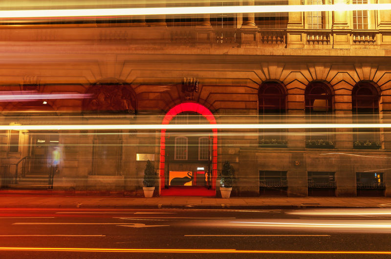 Elephant Lights Arch Architectural Feature Architecture Blurred Motion Light And Shadow Shillouette Building Exterior Built Structure City Life Entrance Exterior Illuminated Low Angle View Speed Urban Elephant London London Lifestyle BYOPaper! Postcode Postcards