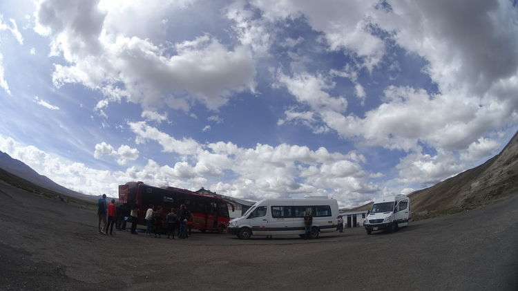 Arequipa Bus Cloud - Sky Day Freight Transportation Land Vehicle Men Mode Of Transport Nature Outdoors People Peru Real People Semi-truck Sky Transportation
