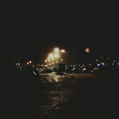 Night Podolsk Snow Winter