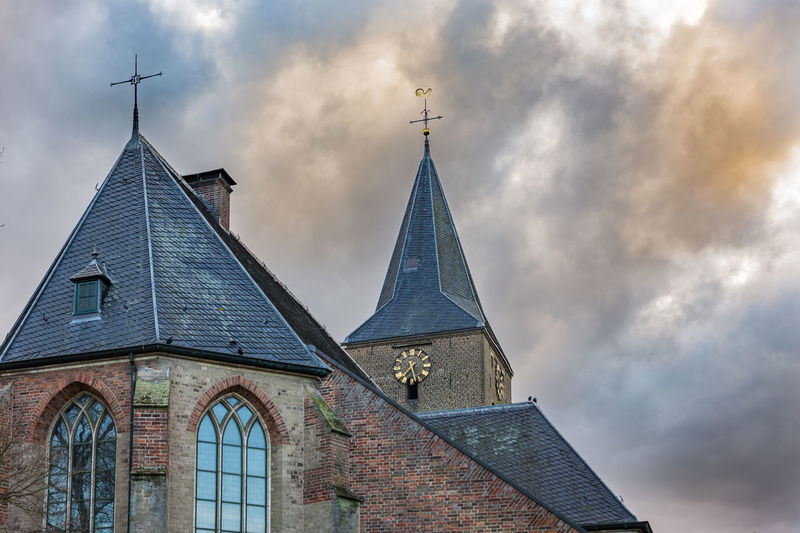 Archetecture Church Netherlands Travel Building Exterior Cloud - Sky Clouds Cross Day Europride No People Outdoors Place Of Worship Religion Sky Spirituality Sunset Travel Destinations Zelhem