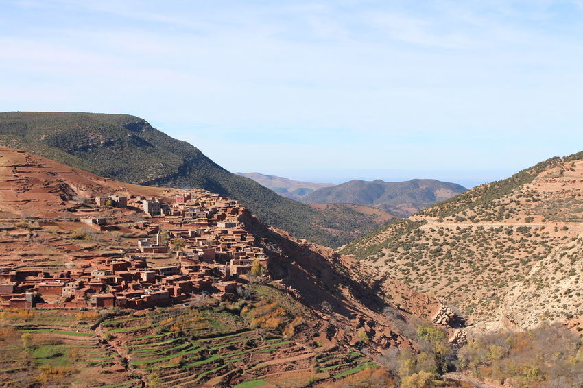 Hillside town Landscape Nature Geology No People Scenics Mountain Outdoors Sky Beauty In Nature Beautiful Day Home Village Hill Hillside Morocco Atlas Atlas Mountain Day