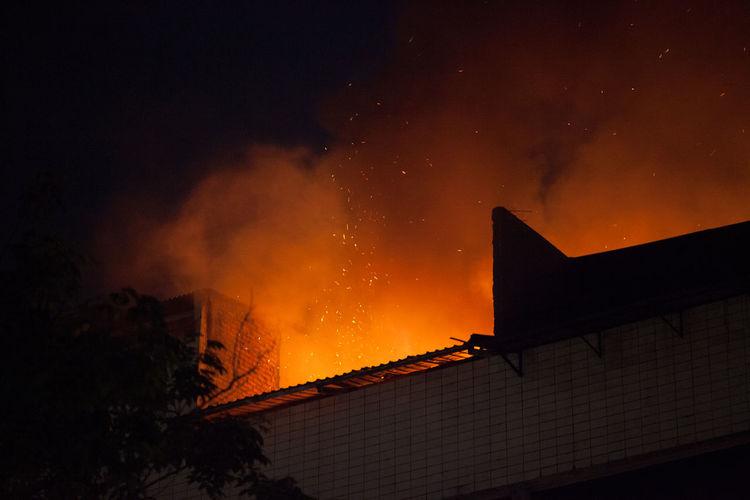 Building under fire