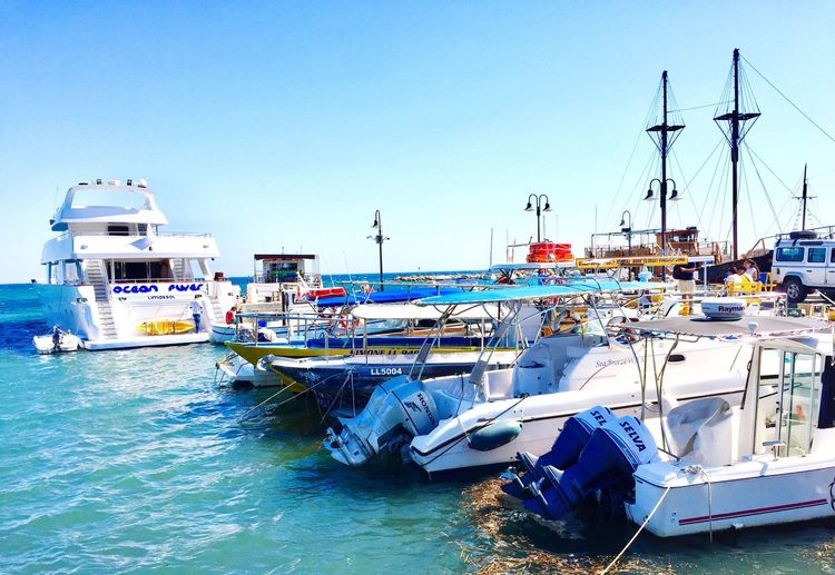 Paphos harbour Boats And Water Boat Trip Boats And Sea Clear Sky Water Travel Photography Beauty In Nature