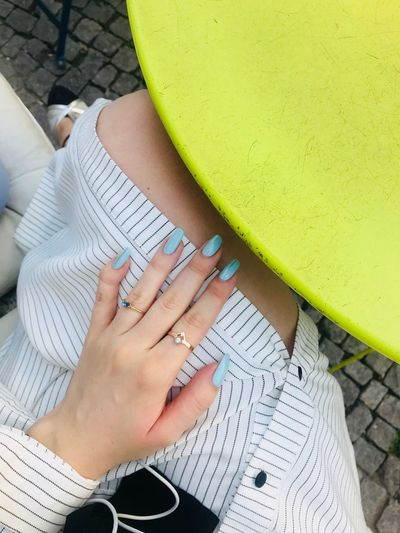 Berlin EyeEm Selects Human Body Part High Angle View One Person Women Real People Adult Human Hand Nail Body Part Nail Polish Hand Lifestyles Ring Day Personal Perspective