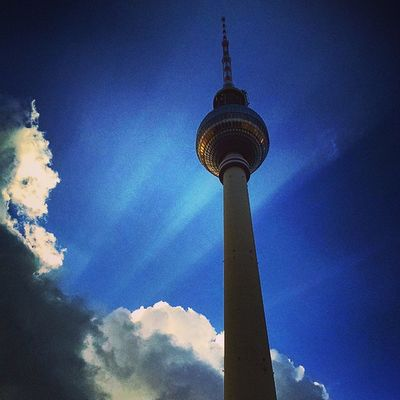 Berlin Sunrays Clouds Fernsehturm Germany Ig_deutschland Ig_germany Ig_europe Insta_international Insta_europe GoEast