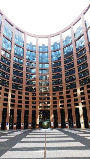 Strasbourg European  Europeanparliament Europeanunion Eu Architecture Built Structure Building Exterior Building City Sky Sunlight Modern No People Day Clear Sky Travel Destinations Sunny