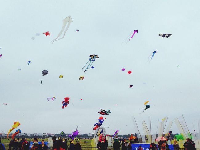 Sky full of kites Kites Fantastic Exhibition Having Fun Great Performance