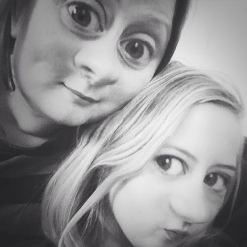 Troll Me Mother & Daughter Being Weird Black & White