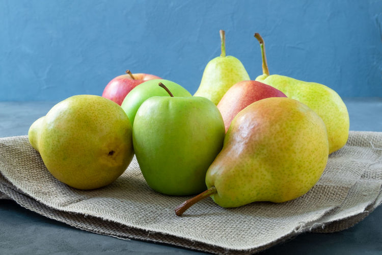 Close-up of apples on table