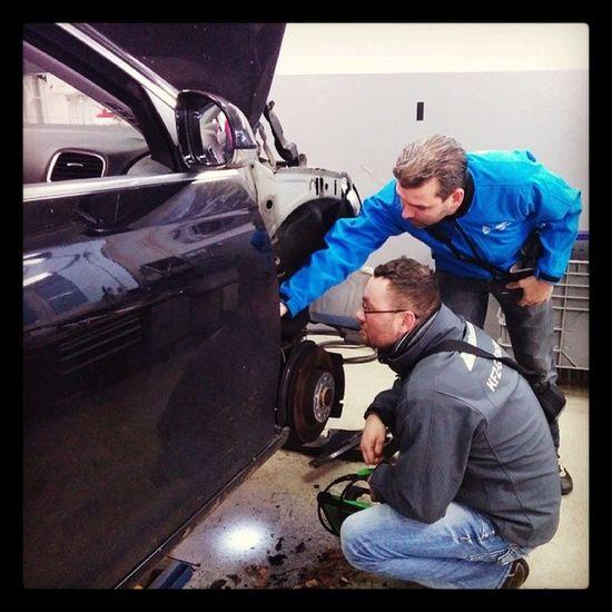 Unser SWAT Team beim Einsatz VW Kfzgutachten Unfall