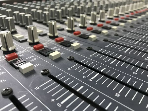Audio Equipment Close-up Control Control Panel Day Electrical Equipment Electronics Industry In A Row Indoors  Knob Mixing Music No People Radio Station Recording Studio Sound Mixer Sound Recording Equipment Studio Switch Technology