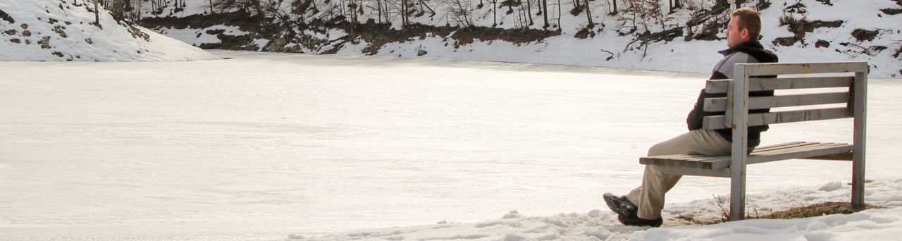 Frozen lake Ice