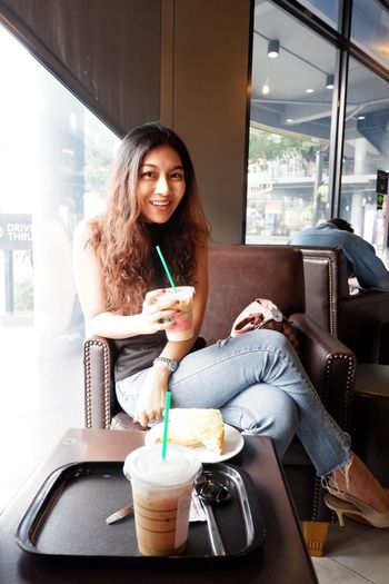 thai girl 134112 Drink Food And Drink Young Adult One Person Women Sitting Young Women Adult Hair Coffee Portrait Lifestyles Looking At Camera Indoors  Refreshment Long Hair Smiling Food Cup Leisure Activity