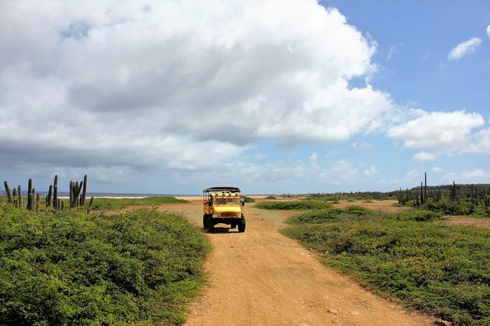 BigFoot Tours on Bonaire, 2013 4x4 Driving 4x4 Travel 4x4 Trucks Agricultural Machinery Beauty In Nature Bigfoot Tours Bonaire Cloud - Sky Day Field Grass Growth Land Vehicle Landscape Mode Of Transport Nature No People Outdoors Road Rural Scene Scenics Sky Transportation Unimog