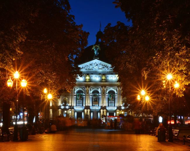 Lviv Lviv, Ukraine Lviv Opera Lviv Lvov Ukraine Lvivarchitecture Lviv,Ukraine Lvivgram LvivUkraine Night Illuminated Architecture Arts Culture And Entertainment Sky Travel Destinations Gold Colored Outdoors Gold No People City