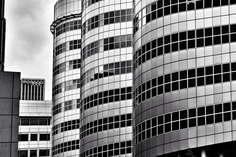 Rotterdam architecture Architecture Modern Building Exterior Low Angle View Built Structure City Outdoors Office Rotterdam Architecture Rotterdam Architecture Window No People Design Blackandwhite Black And White Photography Black And White Collection