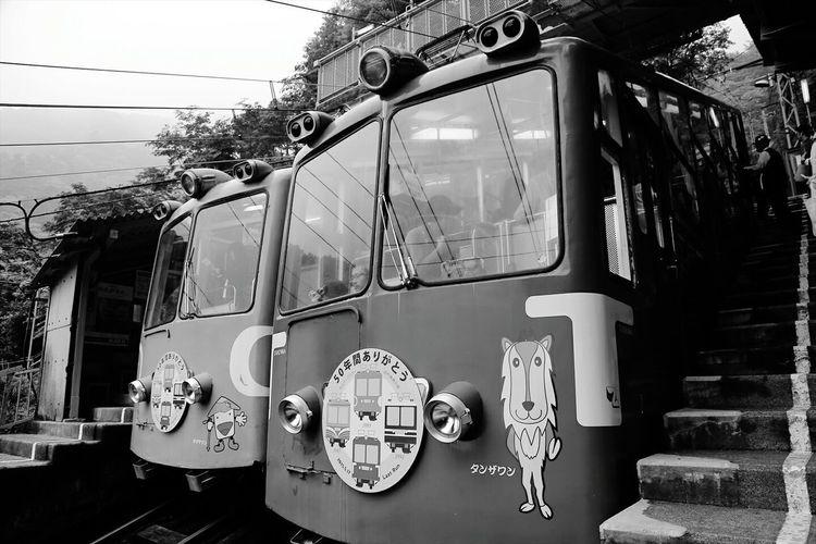 50years anniversary♪ 丹沢大山で50年間親しまれてきたケーブルカーが引退( ̄^ ̄゜)10月にはスタイリッシュな新型で再開します♪ Cable Car Mountains Japan EyeEm Best Shots Retro Nostalgic  Taking Photos Photography ~カメログまたここで~