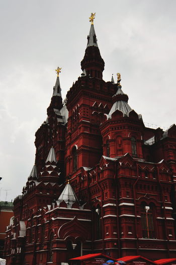Architectural Feature Architecture Built Structure Capital Cities  City Cloud - Sky Colorful Contrast Façade Famous Place High Section Low Angle View Moscow No People Red Square Religion Russia Sky Spirituality Storm Storm Cloud Tourism Travel Destinations VSCO